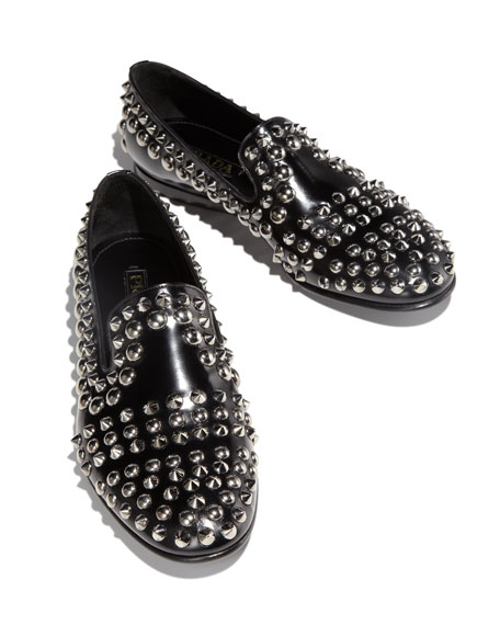 Spazzolato Studded Loafer