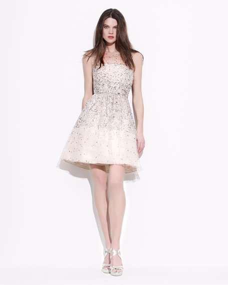 Alyssa Sequined Tulle Dress