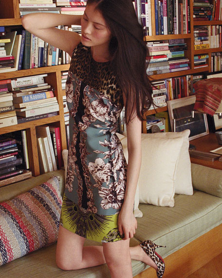 Ginny Printed Silk Dress