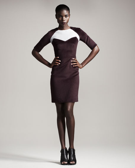 Mesh-Panel Dress