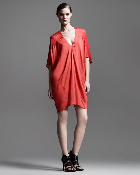 Oasis Draped V-Neck Dress