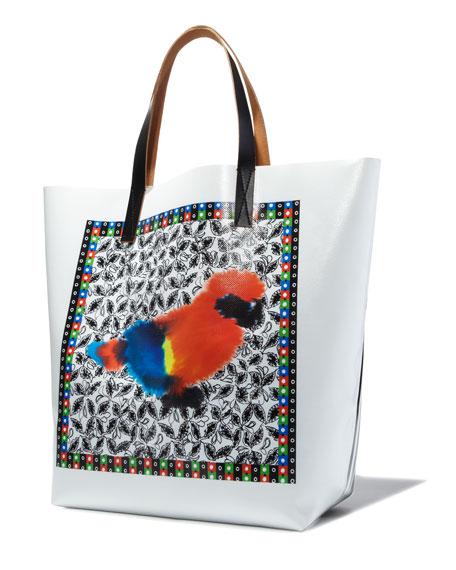 Parrot-Print Tote Bag