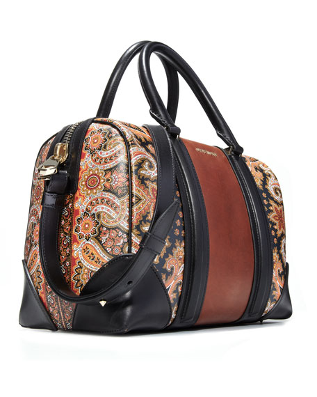 Lucrezia Colorblock Medium Satchel Bag, Printed