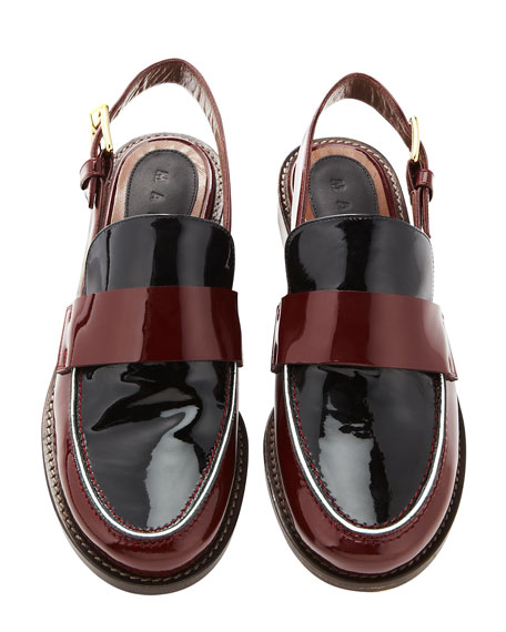 Slingback Patent Leather Loafer
