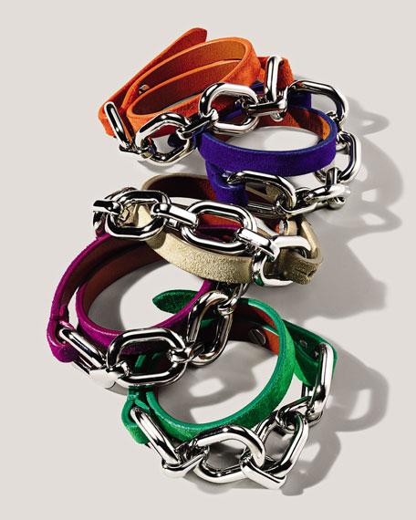 Suede Wrap Bracelet, Green