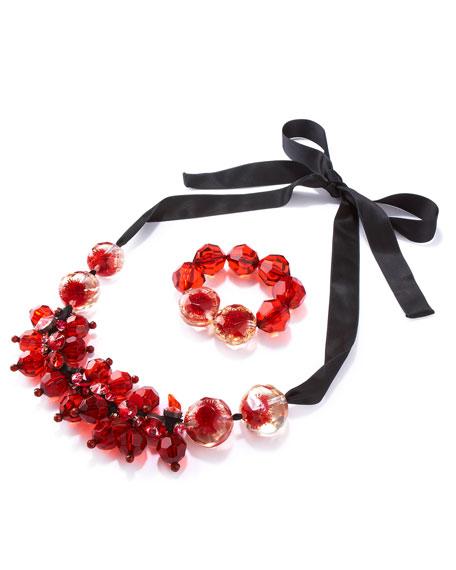 Beaded Bracelet, Red