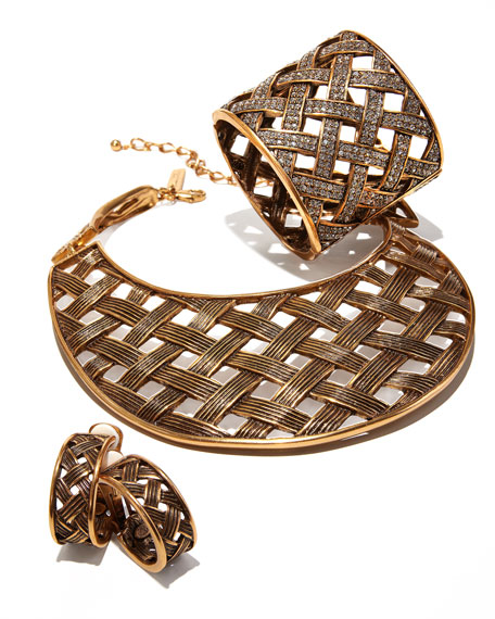 Basketweave Collar Necklace