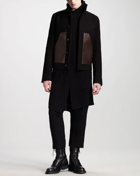 Rick Owens Worker Jacket, Hooded Sleeveless Cardigan, Sleeveless Tee & Sumo Swinger Pants