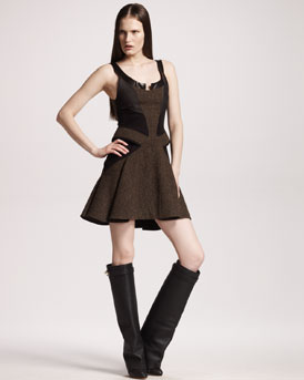 Givenchy Tweed A-Line Dress