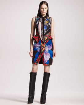 Givenchy Patchwork-Print Cotton Dress