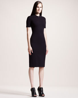 THE ROW Short-Sleeve Jersey Dress