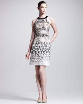 Giambattista Valli Reptile-Print Dress
