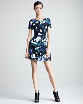 Missoni Short-Sleeve Printed Minidress