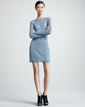 Missoni Long-Sleeve Knit Minidress
