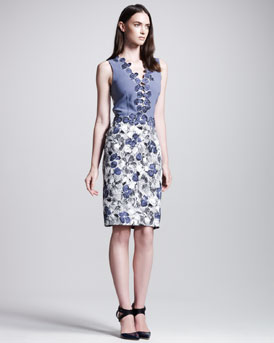 Bottega Veneta Primrose-Print Sleeveless Dress