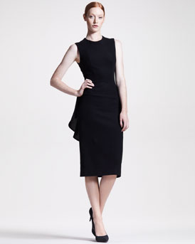 THE ROW Peplum-Back Jersey Dress