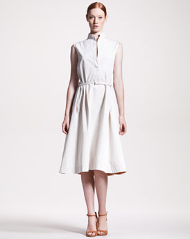 THE ROW A-Line Belted Dress