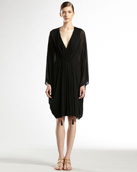 Gucci Gathered Volant Dress