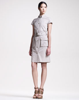 Belstaff Gabardine Safari Dress