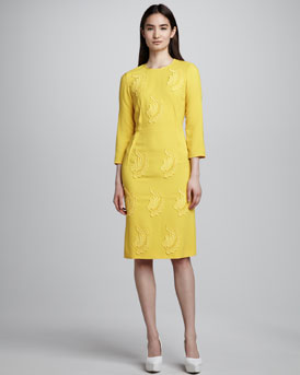 Stella McCartney Lace-Applique Sheath Dress
