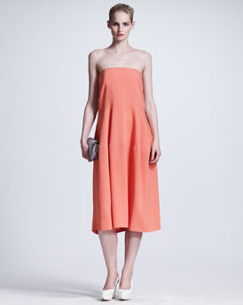 Stella McCartney Pocketed Strapless Dress