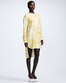 Stella McCartney Floral-Print Tunic Dress, Citrus