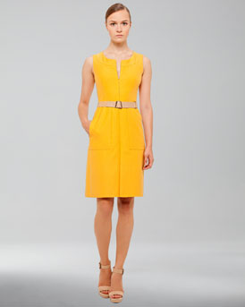 Akris Cotton-Silk Dress, Pollen