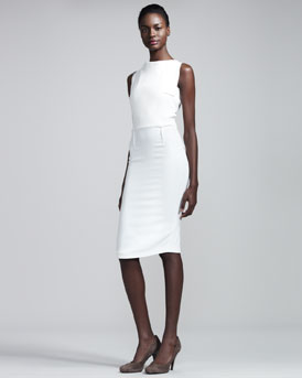 Roland Mouret Rocklea Stretch-Crepe Dress