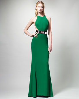 Stella McCartney Belted Contour Gown