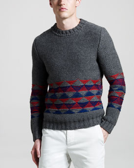 Band of Outsiders Triangle-Stripe Sweater