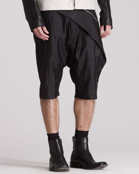 Rick Owens Draped Swing Shorts