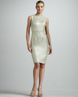 Kalinka Metallic Tweed Sheath Dress