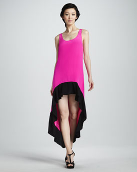 Jay Godfrey High-Low Colorblock Dress