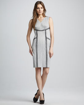 Rachel Zoe Elsa Outlined Polka-Dot Dress