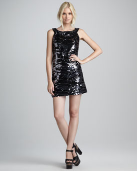 Rachel Zoe Irena Sequined Shift Dress