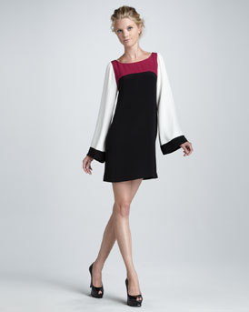 Elizabeth and James Sabrina Bell-Sleeve Colorblock Dress