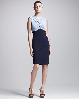 Carven Colorblock Twist Dress
