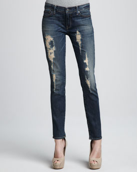 TEXTILE Elizabeth and James Debbie Distressed Skinny Jeans