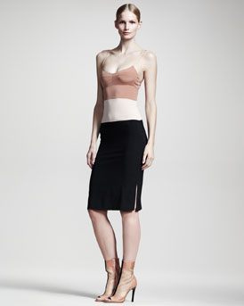 Reed Krakoff Colorblock Slip Dress