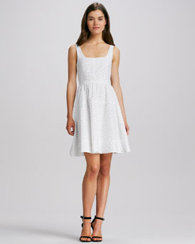 MARC by Marc Jacobs A-Line Polka-Dot Dress