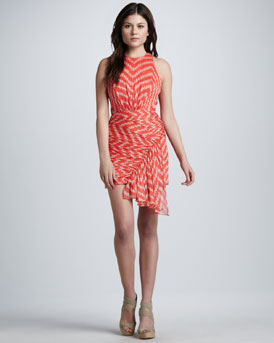 Milly Grace Dot-Print Drape Dress