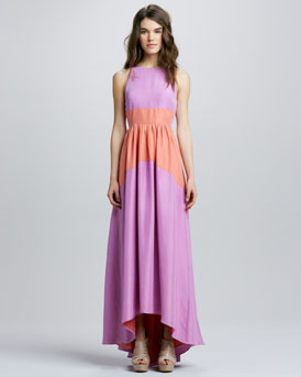 Tibi Two-Tone Maxi Dress