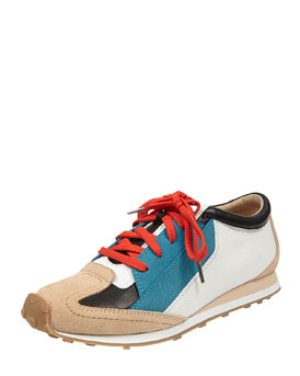 Elizabeth and James Colorblock Leather Sneaker