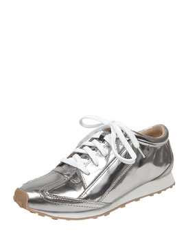 Elizabeth and James Metallic Leather Sneaker