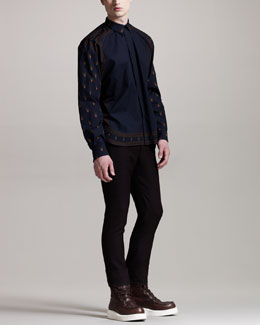 Givenchy Mini Rottweiler-Print Shirt & Wool Trousers