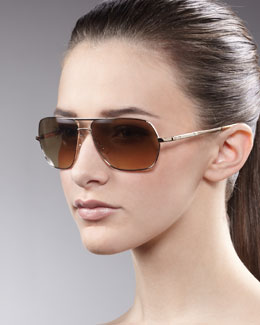 Oliver Peoples Kelton Aviator Sunglasses