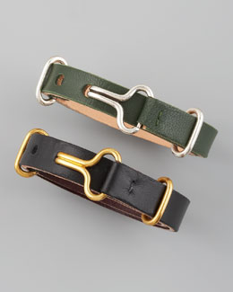 Giles & Brother by Philip Crangi Leather Visor Bracelet
