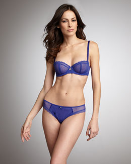 Chantelle C Chic Demi Bra & Brazilian Panties, Blue