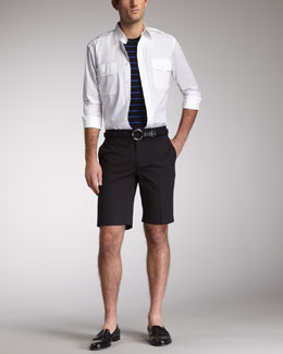 Ralph Lauren Black Label Rover Military Shirt, Striped Tee & James Shorts
