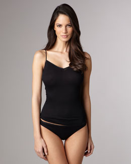 Hanro Cotton Seamless Camisole & High-Cut Briefs, Black